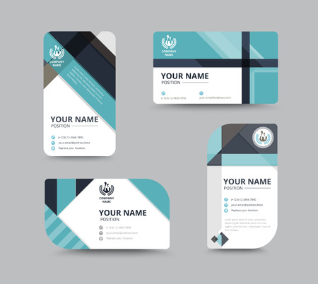 Business greeting card template design. introduce card include sample text position. vector illustration design. Stock Vector - 45395621