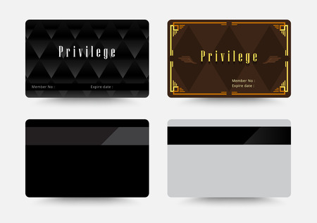 privilege: Elegant platinum and privilege cards template. vector illustration.