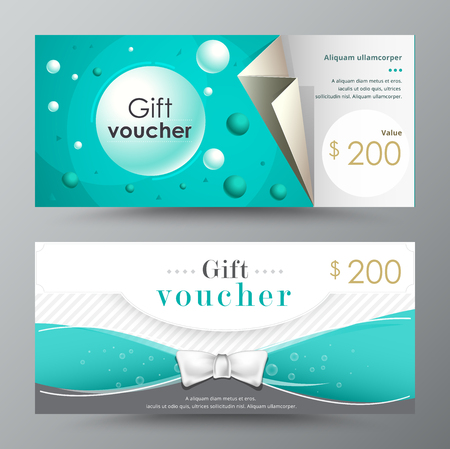 Gift voucher template. promotion card, Coupon design. vector stock.