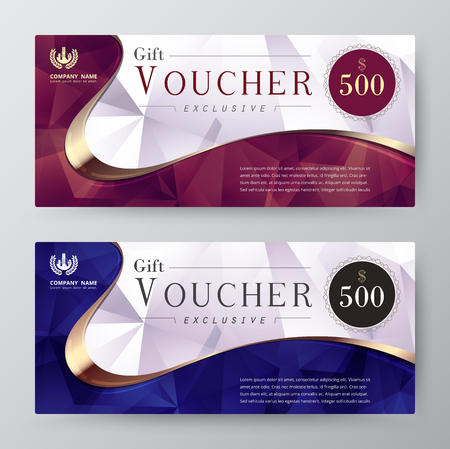 exclusivity: Luxury gift voucher template. promotion card, Coupon design. vector stock. Illustration