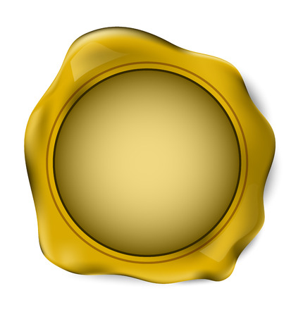 stamp seal: Gold wax seal stamp. vector illustration.