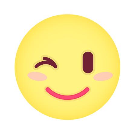 laugh emoticon: Flat eyewink emoticon.