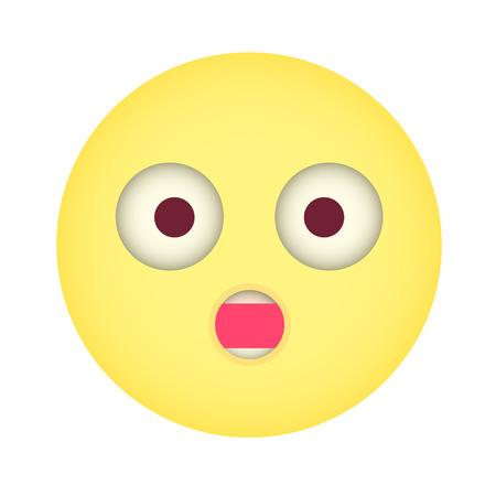laugh emoticon: Flat surprise Emoticon Wonder Emoticon. Illustration