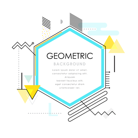 Abstract modern geometrischen mit hellblau. Standard-Bild - 49531385