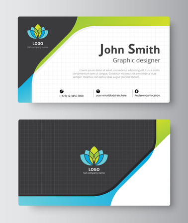 folio: Business greeting card template design. introduce card include sample text position. vector illustration design.