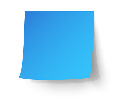 Light blue sticky note, Post-it. vector illustration.