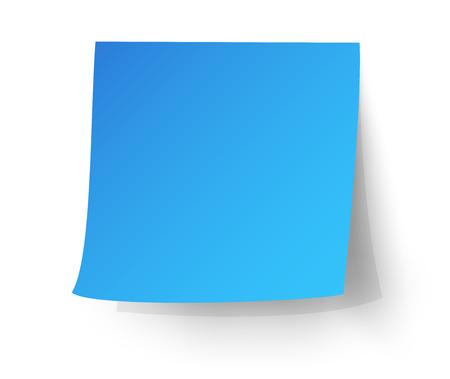 postit note: Light blue sticky note, Post-it. vector illustration.