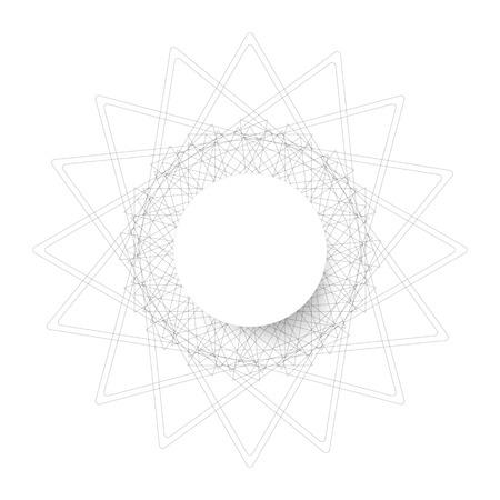 circle shape: symmetrical circle. guilloche circle shape. vector illustration.
