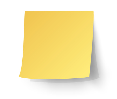 yellow sticky note, Post-it. vector illustration.  イラスト・ベクター素材