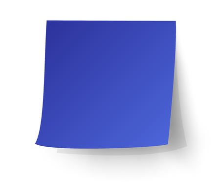 postit note: Blue sticky note, Post-it. vector illustration.
