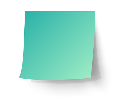 postit note: Aqua sticky note, Post-it. vector illustration.