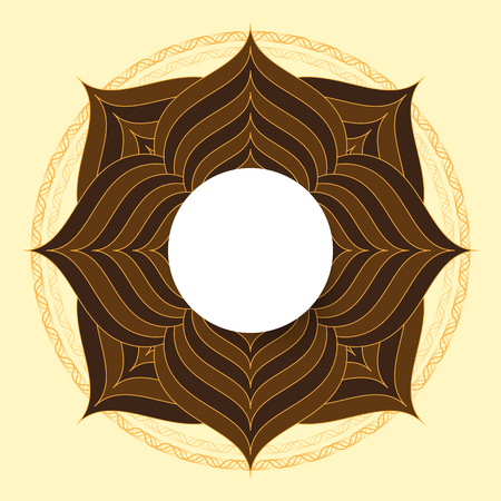 guilloche: symmetrical circle. guilloche circle shape. vector illustration.