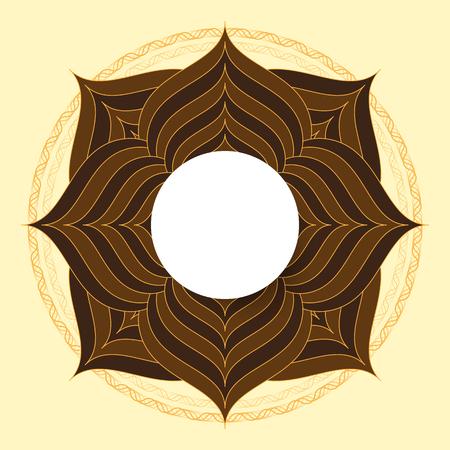 symmetrical: symmetrical circle. guilloche circle shape. vector illustration.