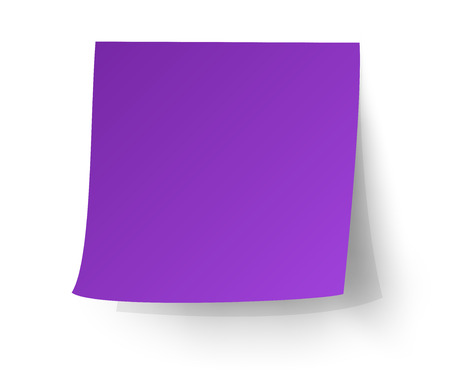 note pad: Purple sticky note, Post-it. vector illustration.