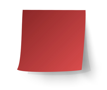 sticky: Red sticky note, Post-it. vector illustration. Illustration
