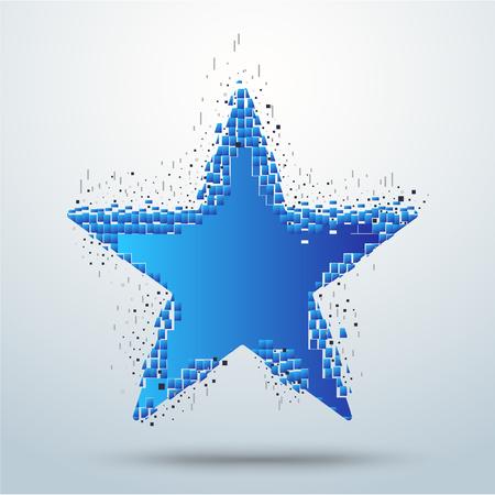 transform: Digital star pixel movement. star transform. vector stock.