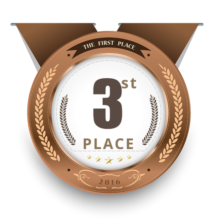 bronze medal: Bronze medal for first place. vector illustration Illustration