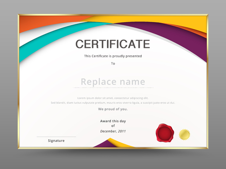 Modern certificate appreciation template. diploma design. vector illustration.