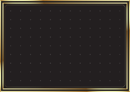 Elegant gold border background. vector illustration.