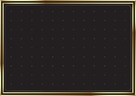 Elegante Goldgrenze Hintergrund. Vektor-Illustration. Standard-Bild - 52883368