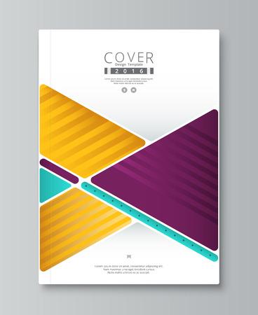 Abstract jaarverslag hoesontwerp. boek, brochure sjabloon met voorbeeld tekst. vector stock. Stock Illustratie