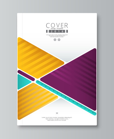 Abstract annual report cover design. book, brochure template with sample text. vector stock.