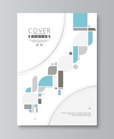 Jaarverslag hoesontwerp. boek, brochure sjabloon met voorbeeld tekst. vector stock.