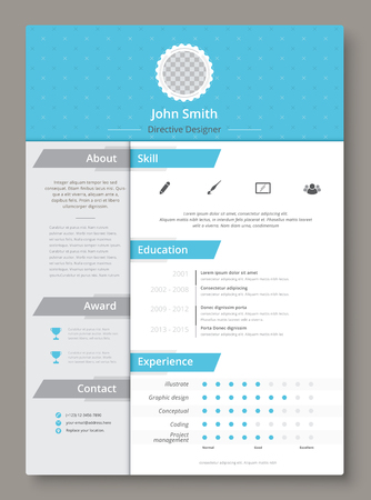 Resume and cv vector template. Awesome for job applications. Illustration