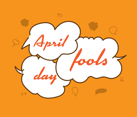 illustration Celebrating April Fools Day.