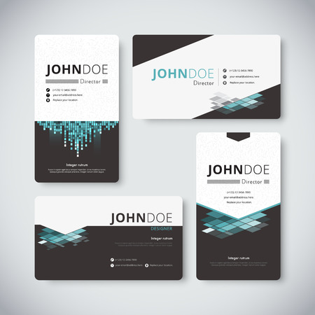 folio: Modern Creative and Clean Business Card Template. modern business card vector.