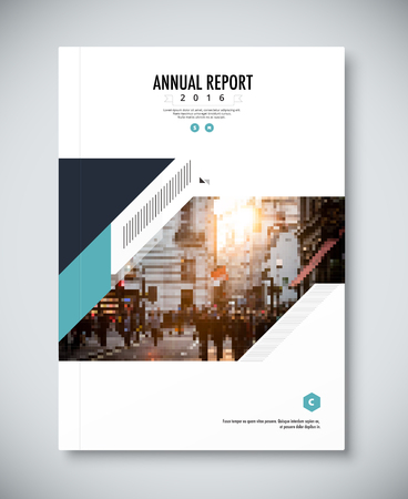 Corporate annual report template design. corporate business document design. vector illustration.