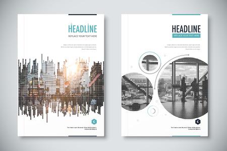 annual report: Corporate annual report template design. corporate business document design. vector illustration.
