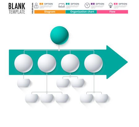 replace: Diagram Template, Organization chart template. flow template, blank diagram for replace text, white color, Circle diagram, vector stock design. (blank)