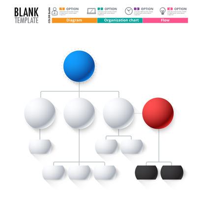 Diagrammvorlage, Organigramm-Vorlage. Flow-Vorlage, Leeres Diagramm ...