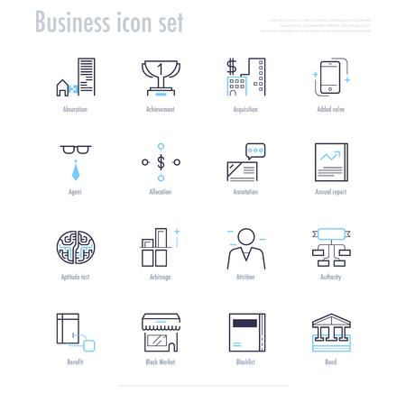 gov: Business icon set. business symbol set. vector illustration. Illustration