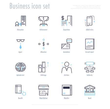 Business icon set. business symbol set. vector illustration. Illustration