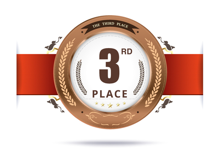 bronze medal: Bronze medal for third place. vector illustration Illustration