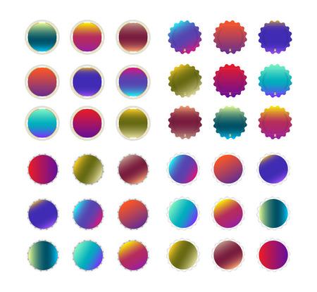 Set Blank Badge template. vector illustration. Ilustrace
