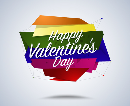 sexual: Happy valentines day words label. metro sexual valentines day. vector illustration.