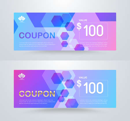 guarantor: Gift voucher card template design. for special time, Best of customer, Thank giving, and other sale. vector illustration.