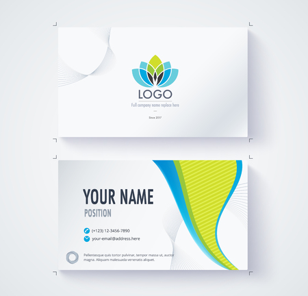 comunity: Business card template commercial design. Illustration