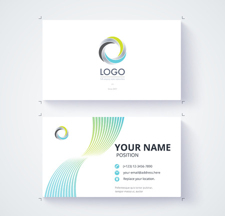 comunication: Business card template. abstract motion line design. vector illustration Illustration