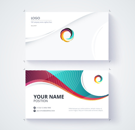 Business card template commercial design. Stock Vector - 70889321