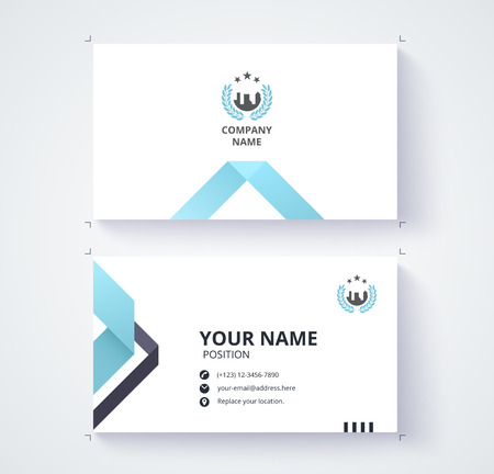 Business card template commercial design. Illustration