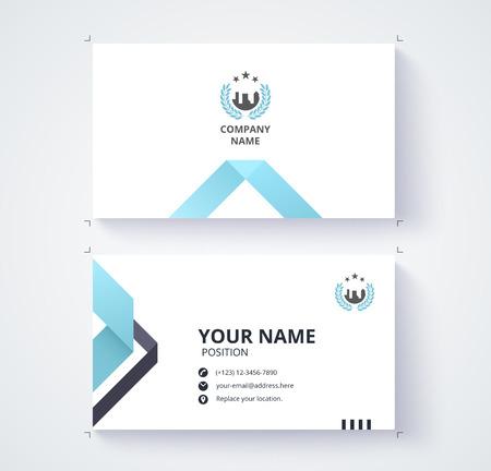 Visitekaartje sjabloon commercieel ontwerp. Stock Illustratie