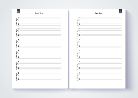 Music Stave Template Blank Stave Note Paper Blank Music Note