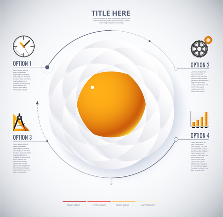 fried egg: infographic diagram of Fried Egg and food concept. included icon and sample text. Illustration