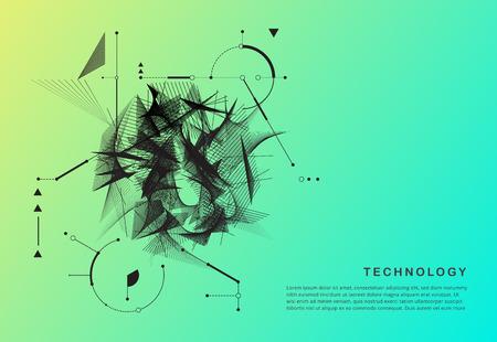Abstract technology motion shape. black motion shape vector. Illustration
