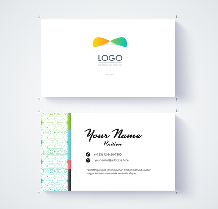 comunity: Business card template. Example logo and text position. vector card. Illustration