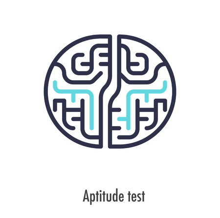 Aptitude test thin line icon. vector symbol